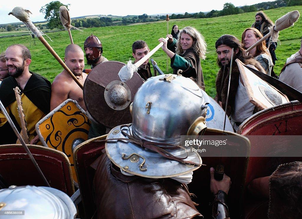 Italian Re-enactment Group Recreate Roman Camp Life : News Photo