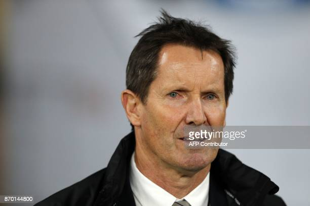 Barbarians' New Zealand coach Robbie Deans is pictured after the international rugby union match between Barbarians and New Zealand at Twickenham in...