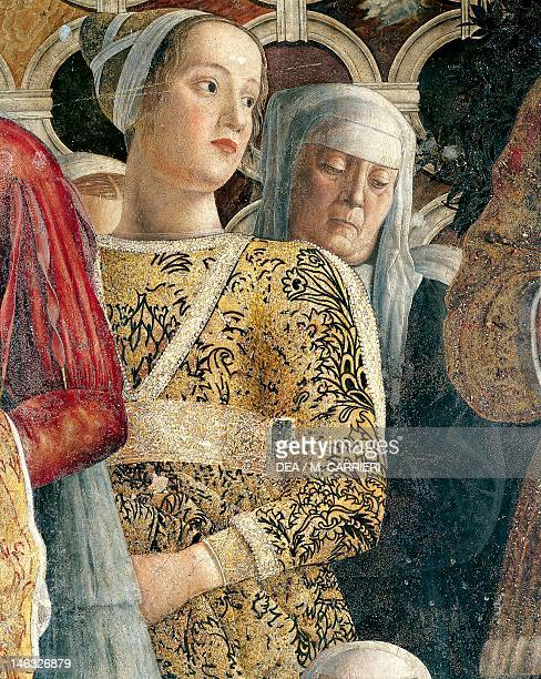 Barbarina Gonzaga detail from the Court Wall 14651474 by Andrea Mantegna fresco San Giorgio Castle Wedding Chamber or Camera Picta Mantua