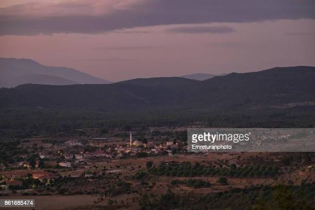 barbaros village at sunset,cesme. - emreturanphoto stock pictures, royalty-free photos & images