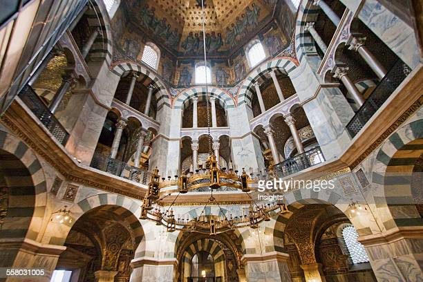 Barbarossa's Chandelier In The Octagon The Palatine Chapel Built By Charlemagne Aachen Cathedral Aachen Germany