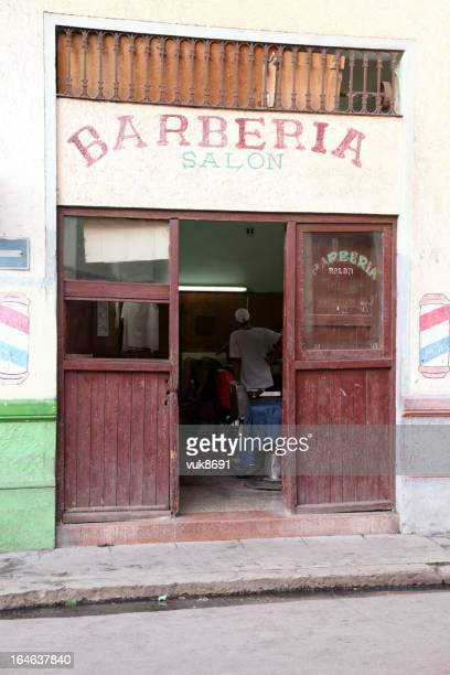 barberia - barber pole stock photos and pictures