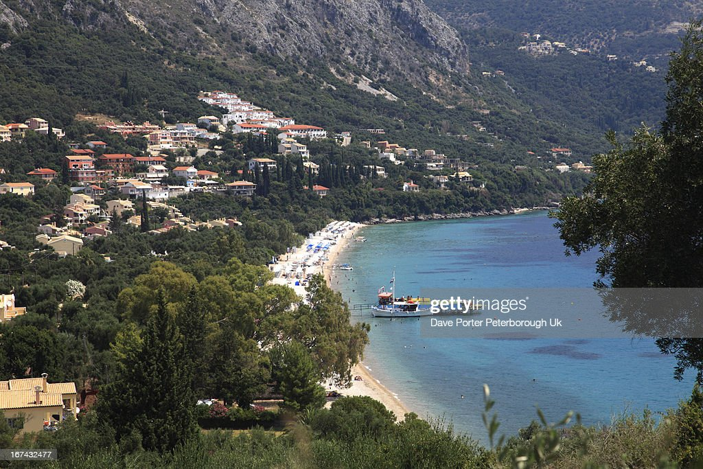 Barbati resort, Corfu Island : Foto de stock