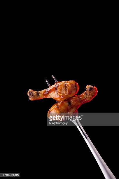 Gegrilltes Hühnerfleisch Beine