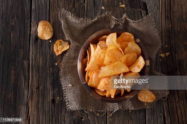 barbecue flavor potato chips - snack stock pictures, royalty-free photos & images