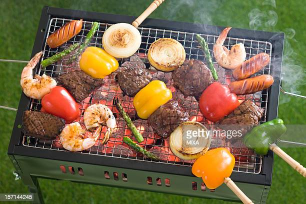 Barbecue Grilled on Barbecue Grill