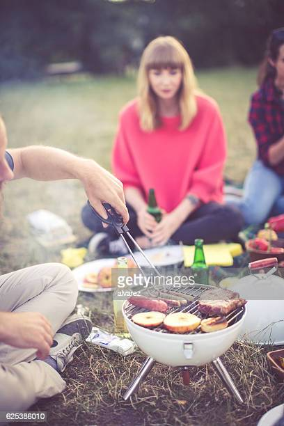 Barbecue party in park