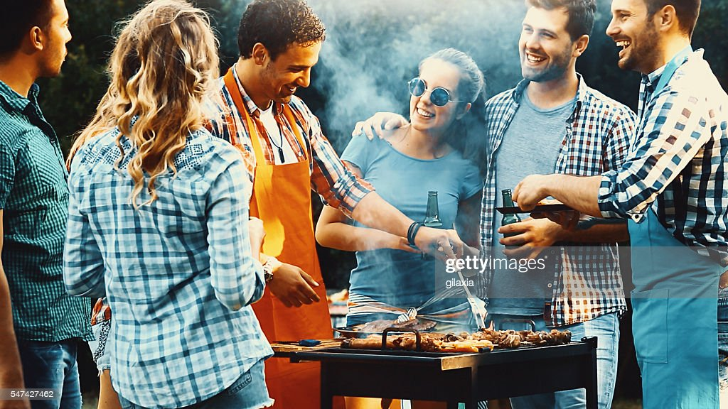 Barbecue party. : Stock Photo