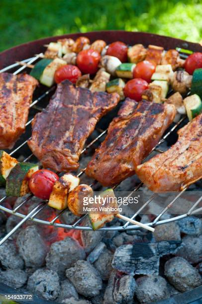 barbecue - stick stock-fotos und bilder