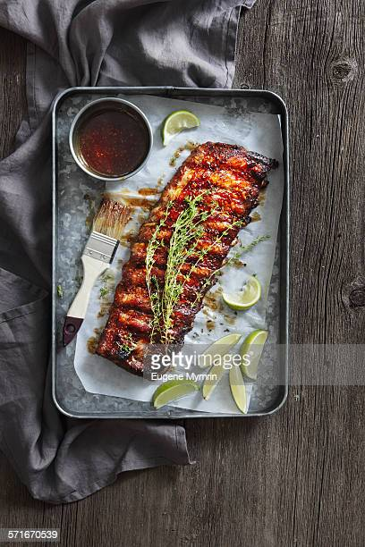 Barbecue pork ribs