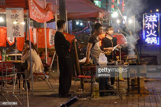 barbecue restaurant in hohhot, inner mongolia china - hohhot stock pictures, royalty-free photos & images