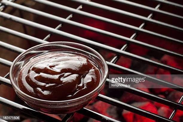 barbecue sauce - barbeque sauce stock photos and pictures