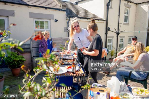 barbecue weather - summer stock pictures, royalty-free photos & images