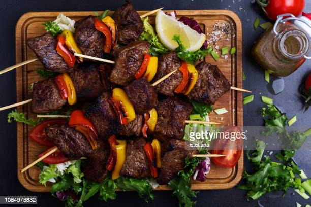 Barbecued beef with garnish