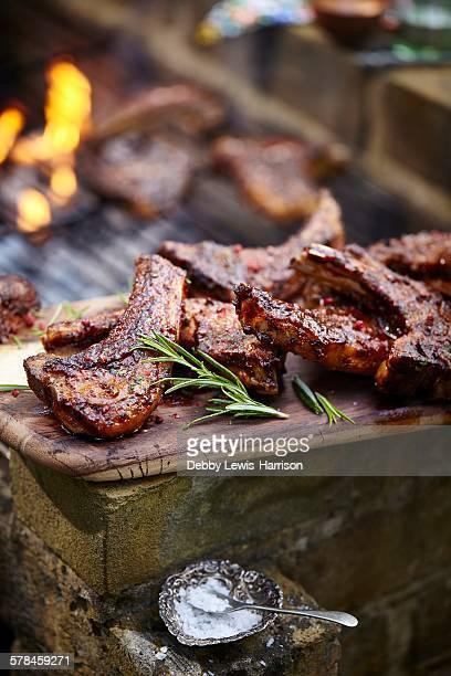 Barbecued lamb cutlet