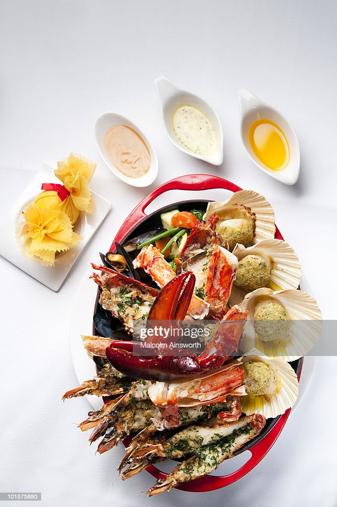 Barbecued Seafood Platter : Stock Photo