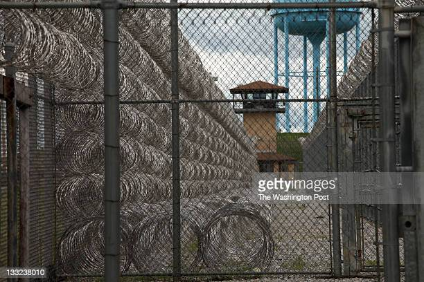Barbed wire at Maryland Correctional Training Center in Hagerstown Md photographed on Thursday April 21 2011 Calvert Porter coanchor and Keith...
