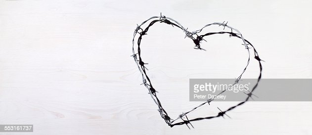 Barbed Wire Heart Love And Romance Stock Photo | Getty Images