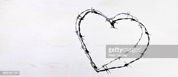 Barbed wire heart love and romance