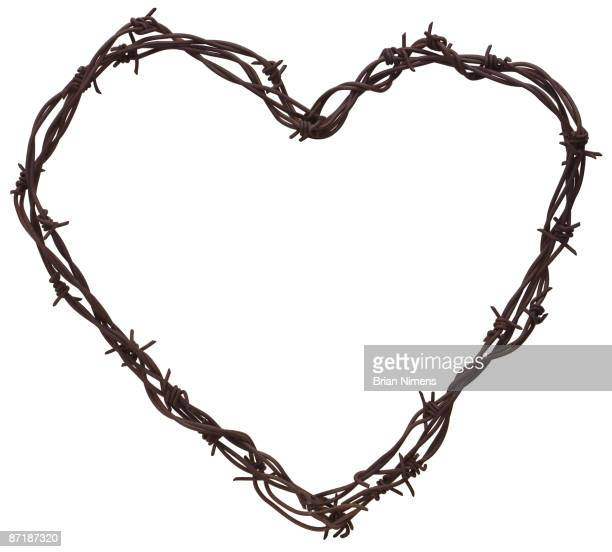 Barbed Wire Heart (Clipping Paths Included)