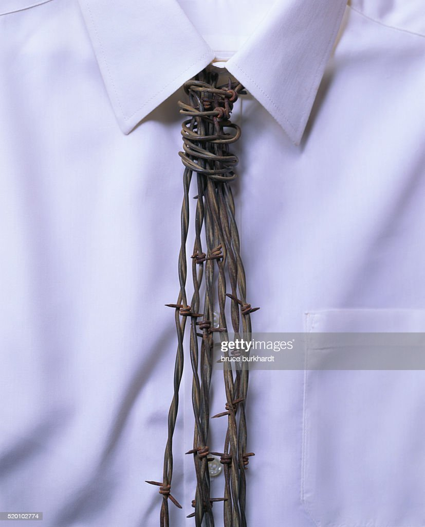 Barbed Wire Necktie : Stock Photo