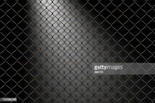barbed wire - chainlink fence stock pictures, royalty-free photos & images