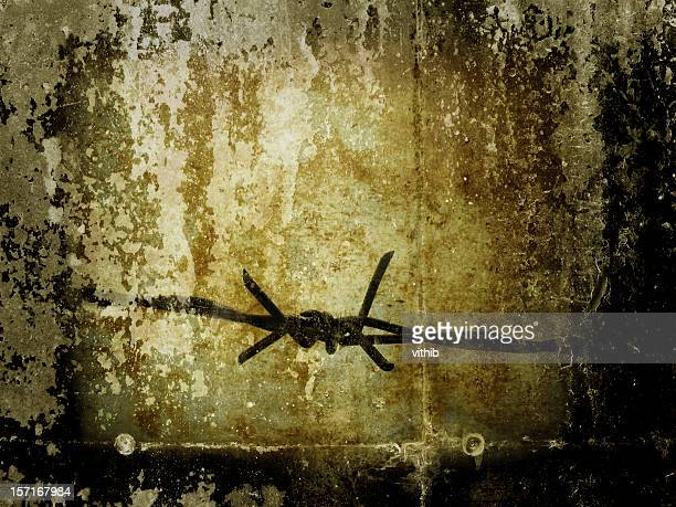 Barbed wire with grunge effect