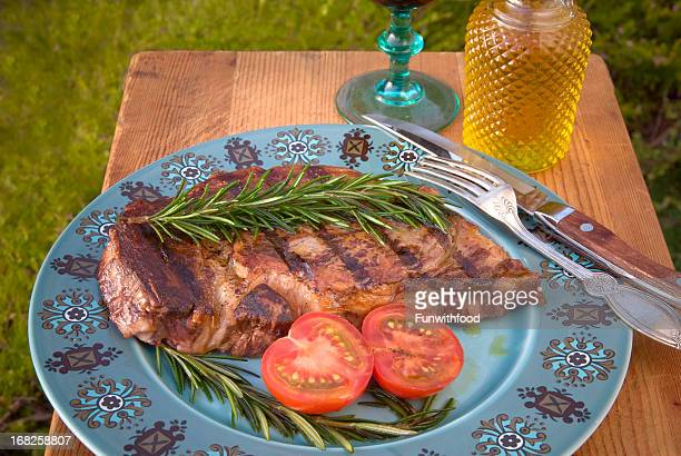 Barbeque Rib Eye Grilled Steak Dinner