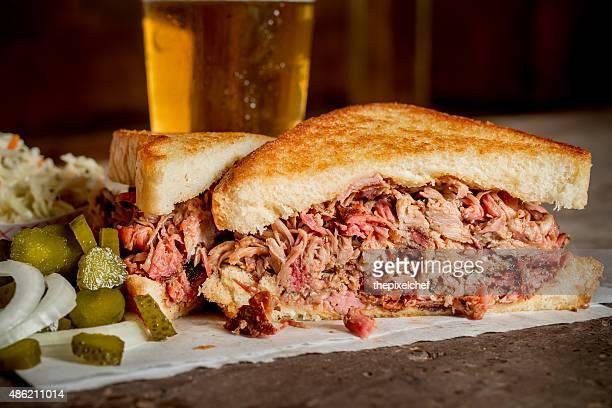 Barbequed Pulled Pork Sandwich