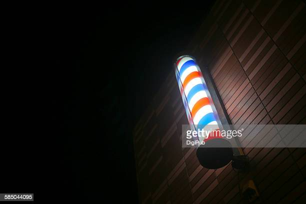 barber culture - barber pole stock photos and pictures