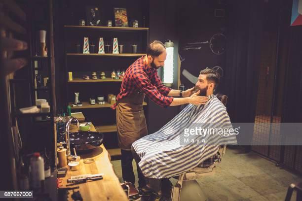 Barber-Client Consultation