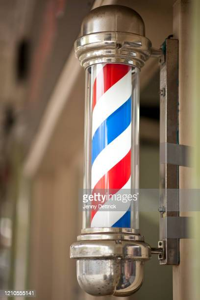 barber's pole - pole stock pictures, royalty-free photos & images