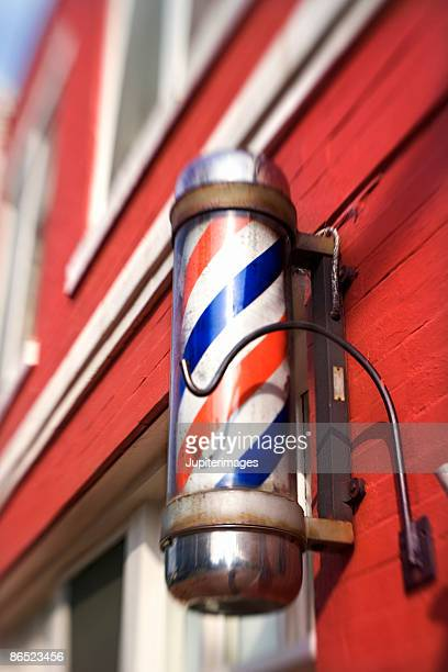 barbers pole - barber pole stock photos and pictures