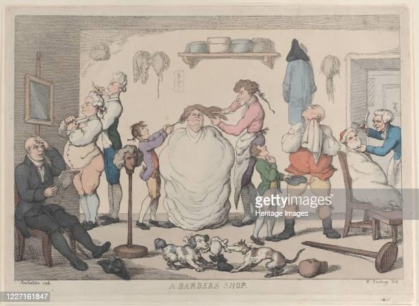 A Barber's Shop 1811 Artist Thomas Rowlandson