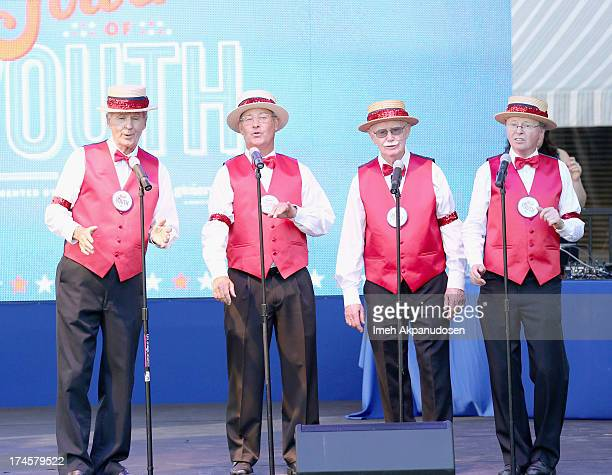 Barbershop Quartet perform on stage at Variety's Power of Youth presented by Hasbro Inc and generationOn at Universal Studios Backlot on July 27 2013...