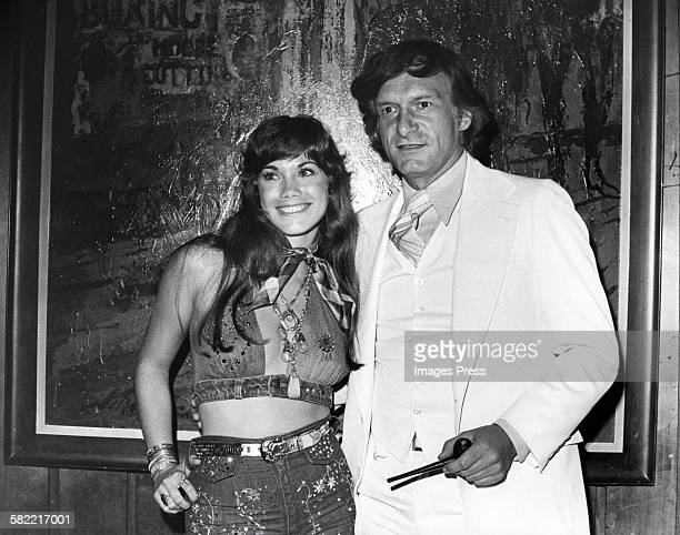 Barbi Benton and Hugh Hefner at the Playboy Club circa 1970s in New York City