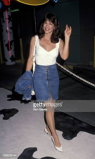 Barbi Benton during Boogies Diner Opening October 10 1991 at Westside Pavilion in Los Angeles California United States