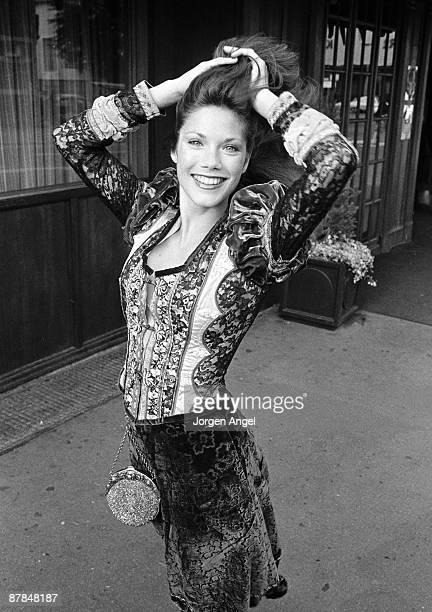 Barbi Benton posed in Copenhagen Denmark in 1975
