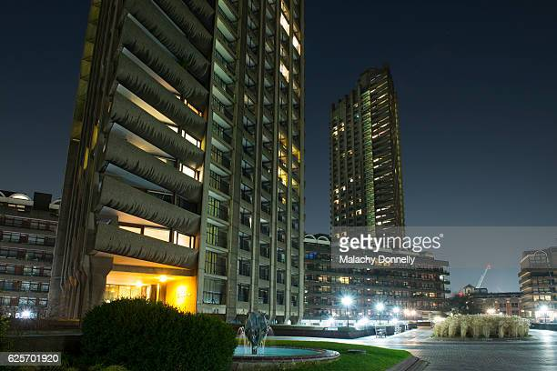 Barbican by Night - Brutalist Architecture