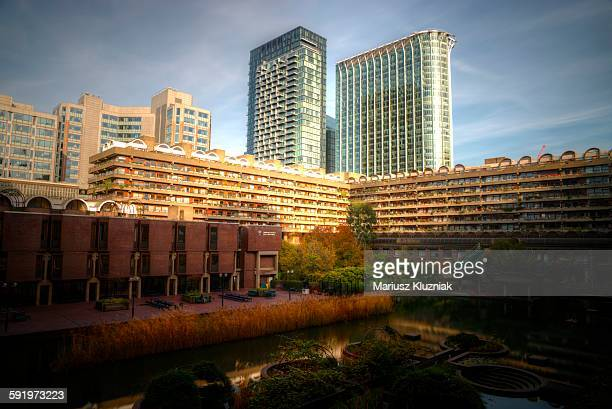 Barbican Estate and CityPoint in autumn colours