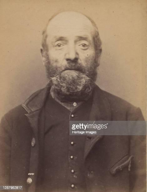 Barbichon. Jacques, �mile. 62 ans, n� � Provins. Marchand de mouron. Anarchiste. 9/3/91, 1891. Artist Alphonse Bertillon.