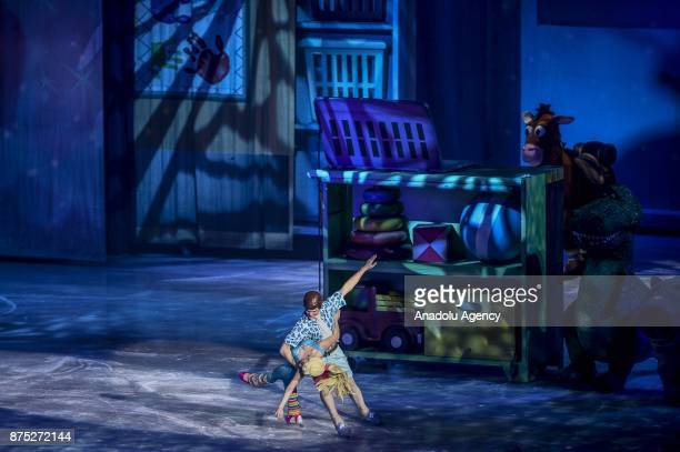 Barbie and Ken characters perform during the Disney on Ice show at Tauron Arena Krakow Poland on the November 17 2017 Disney on Ice is a show through...