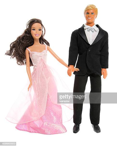 barbie and ken fashion dolls, on date - barbie stock photos and pictures