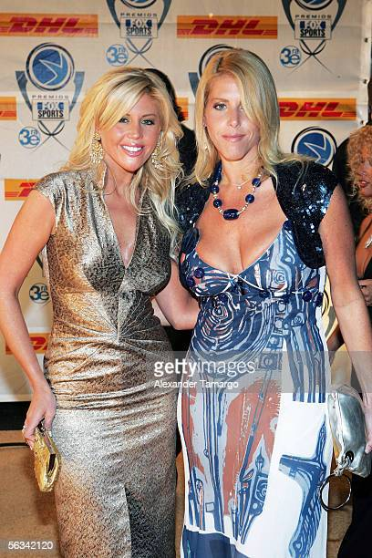 Barbie and Vanessa Simons arrive for the 3rd Annual Premios Fox Sports Awards at the Jackie Gleason Theater December 5 2005 in Miami Beach Florida