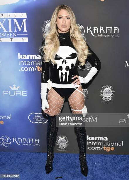 Barbie Blank arrives at the 2017 MAXIM Halloween Party at LA Center Studios on October 21 2017 in Los Angeles California