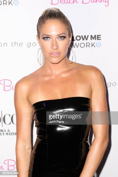 Barbie Blank attends the after party for the BEACH BUNNY fashion show during FUNKSHION Swim Fashion Week at Funkshion Tent on July 21 2017 in Miami...