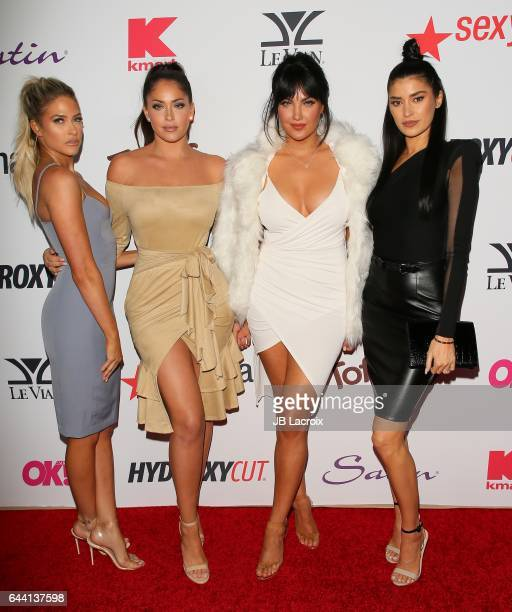 Barbie Blank Natalie Halcro Olivia Pierson Nicole Williams attend the OK Magazine's Annual PreOscar Event on February 22 2017 in Los Angeles...