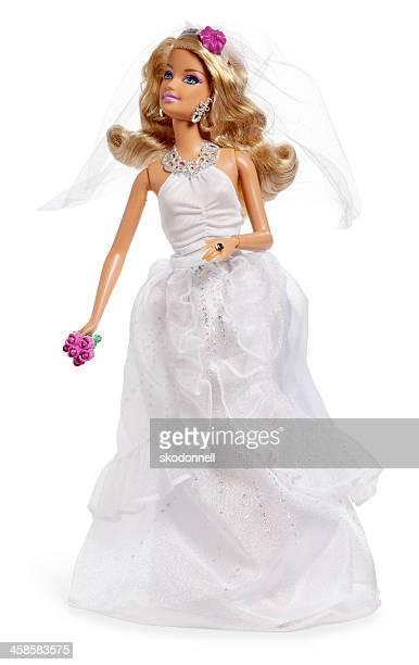 barbie braut auf weiß - ganzkörper freisteller editorial stock-fotos und bilder