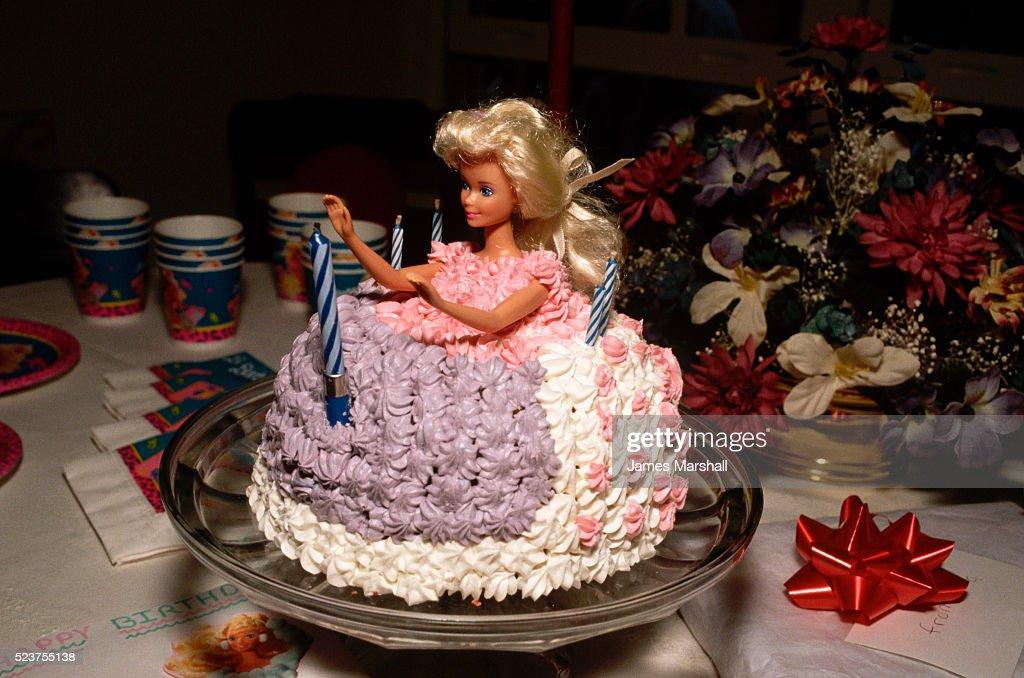 Barbie Doll Birthday Cake Photo Getty Images