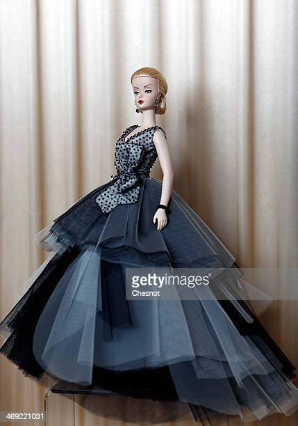 Barbie doll created by Maggia is displayed during the exhibition 'Barbie retro chic' at the 'Musee de la poupee' on February 13 in Paris France The...